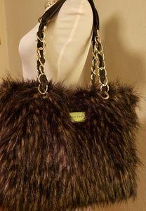 Marc Fisher pvc faux fur bag.  💜